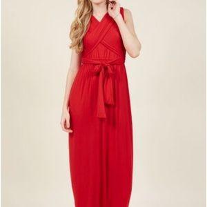 ModCloth NWT size M red maxi dress